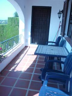 Terrace and entrance door