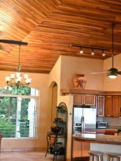 High wood ceilings