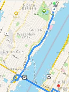 Your way to the big apple, less than 6 miles, 18 mins away