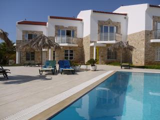 Luxury villa with pool, sea and mountain views, Makrys-Gialos