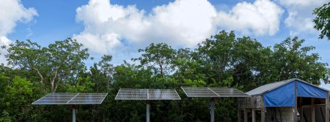 Solar electric power.