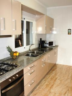 Modern Kitchen Area leading to terrace
