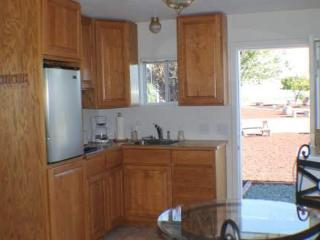 Private kitchen with 2 burner stove, fridge, toaster, coffee maker etc.