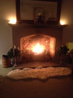 The fire provides a great heart to the lounge