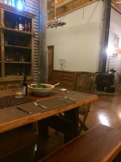 dining area opens to dance floor!