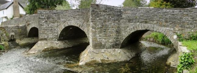 Bridge over the River Lugg - the border between England and Wales