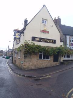 Chequers pub top of the road from cottage