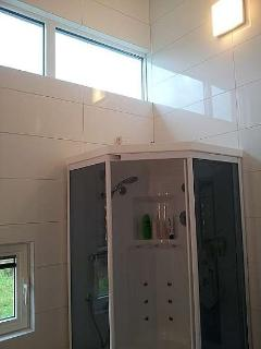 Bathroom with steam shower
