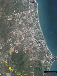 Map of Hua Hin and the Views