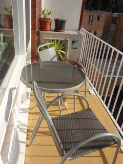 Balcony seating - a nice place to relax and enjoy the afternoon away