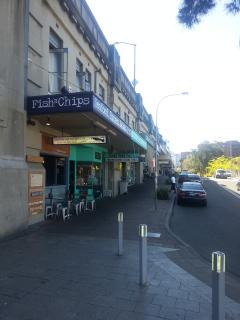 An array of restaurants and cafés