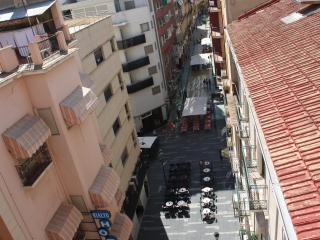 From the window of your room.Pedestrian street that ends in the esplanade of the port of Alicante.