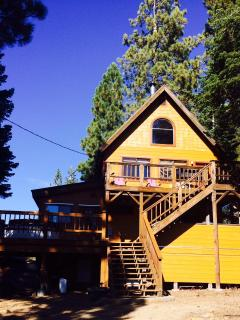 Front of House Under the Pines