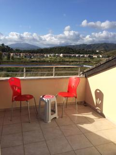 If you like mountains you'll love the view from this top terrace! look left for sea, right for mount