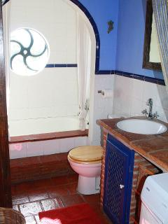 Bathroom upstairs with full bath