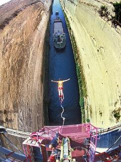 bungee jumping from the canal
