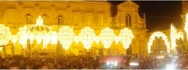 Luminariere per la cavalcata di S. Oronzo - 25-27 agosto