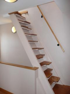 'Monk stairs' to master bedroom