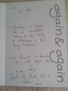 one of our lovely thankyou cards