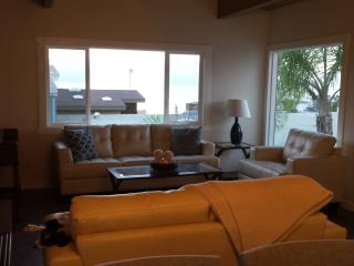 Lounge in the living room watching the ocean or the 50 inch flatscreen