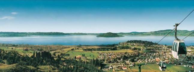 Widescreen view of Rotorua from the Gondolas