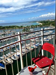 View from 'Penthouse Paradise' to Ala Moana Park