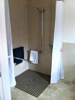 The beautiful wet-rooms have spacious showers (and optional grab rails for those that need them)