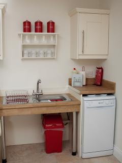 We've even lowered the sinks and provided extra space underneath (easier for wheelchair users)