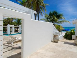 ALABASTER...  A luxurious beachfront 3 BR villa in Coral Beach Club on Dawn