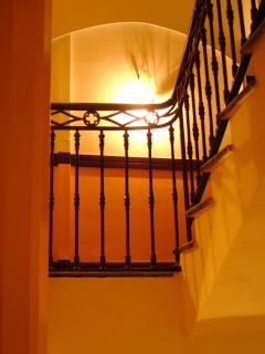 Lift or stairs? Historical Neo-classical building offering both options.  In the prime Carre d'Or.