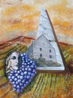 gemalt von Ihrer Gastgeberin und Künstlerin Angelique Eckstein für das Magazin Wein & mehr