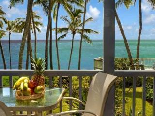 Poipu Palms 102 Exquisitely decorated oceanfront 2 bed/2 bath condo in a small complex. Free car with stays 7 nts or more*