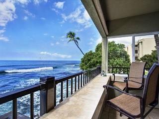 Ocean Front! Watch Surfers and Dolphins from The Banyan Tree Condo  #200A, Kailua-Kona