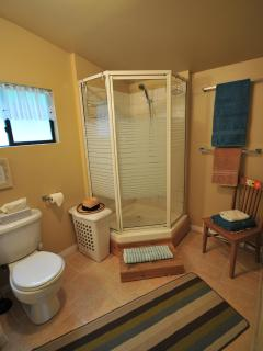 Roomy Bathroom with Shower