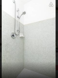 Large shower in main bathroom ( indoors)