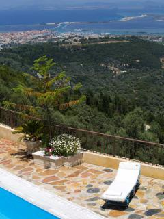 Enjoy the panoramic view of Lefkada from Luxurious vIlla Senecio