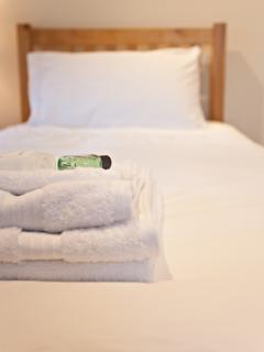 Egyptian cotton towels are provided and Gilchrist and Soames toiletries with our compliments