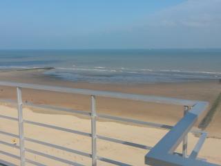 Zeeziicht te Westende belgische kust, Nieuwpoort