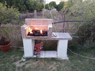 Barbecue in muratura per fantastiche grigliate nel giardino.