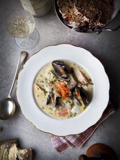 seafood chowder a must in KINSALE