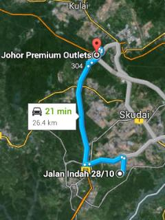 Apartment to Johor Premium Outlet
