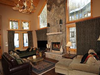 You`ll find this 5 bedroom Vail vacation home at 2040 Meadow Brook Drive, nestled into the forested woods of Vail Mountain.