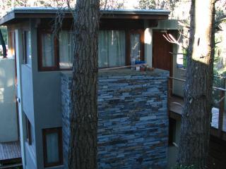 Casa de diseño en 4 desniveles con vista al bosque, Mar Azul