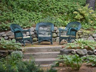 Beautiful Gardens with three sitting areas