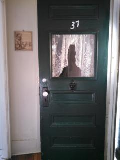 A 94 year old front door welcomes you into this small house that is just big enough!