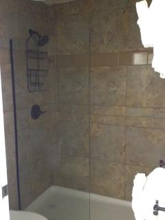 New walk-in shower in master suite