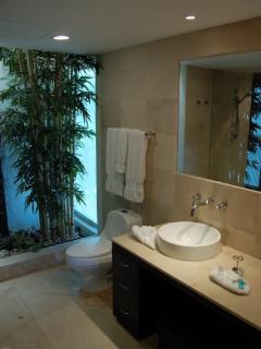 Playa del Carmen vacation rentals - modern bathroom- PH Laguna