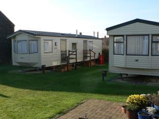 Two of our holiday letting caravans.