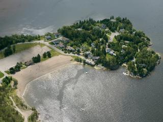 Cottage is the property on the far right with Boat Docks