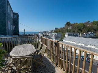 Sun deck with a sea view - even closer when the tide is in!